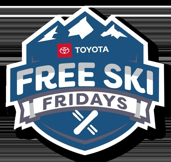 Free Ski Fridays logo.