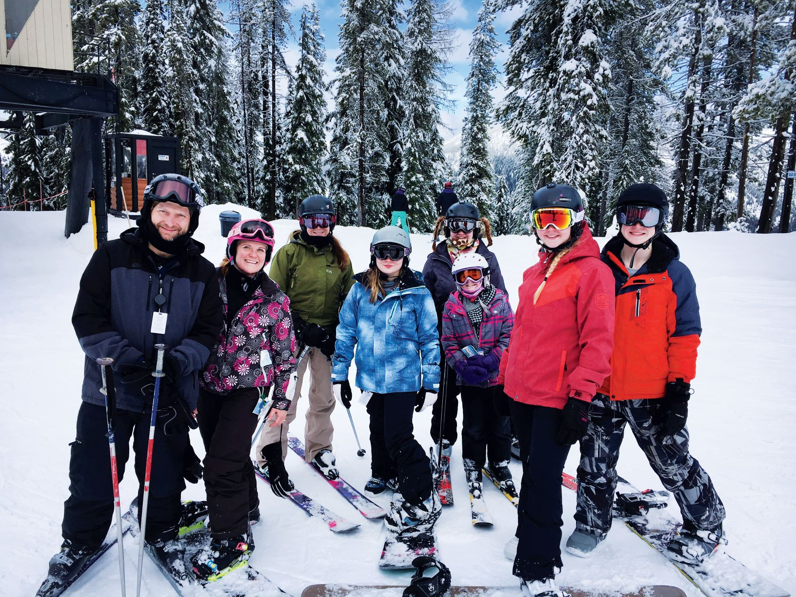 Kim Carpenter with her family of skiers. // Photo courtesy Kim Carpenter